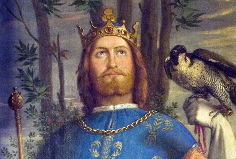 Bild - Friedrich II. war ein großer Freund des Ordens. Sein Wandbild hängt im Kaisersaal des Römers.